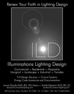 Illuminations Lighting Design Launches Ad Campaign with Texas Architect.