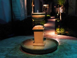 Residential Fountain Lighting